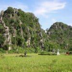 Ninh Binh chalk mountains