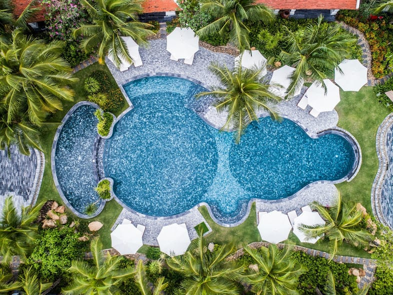 The Anam Vietnam Pool Drone Shot