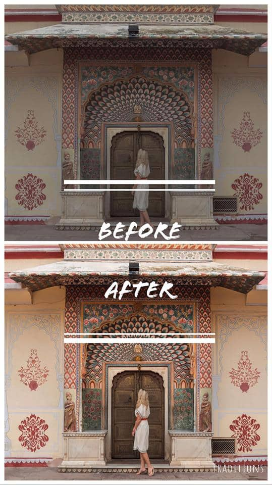 Travel & Treasures Lightroom Preset Before & After