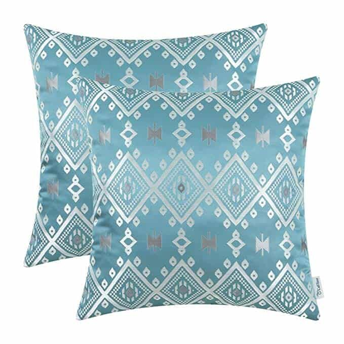 Turquoise Silver Pillows